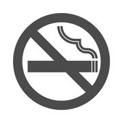 Non smoking area sign symbol, silhouette Stock Illustration