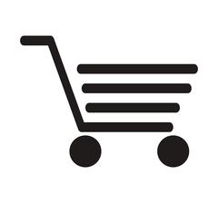Abstract shopping cart icon Stock Illustration