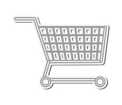 Shopping cart icon Stock Illustration