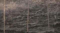 Fountain water drops Stock Footage