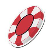 Casino chip icon Stock Illustration