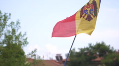 Moldova flag waving in slow motion Stock Footage