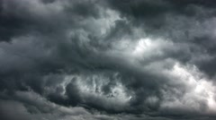 Motion gray clouds. Stock Footage