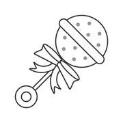 Baby toy rattle icon Stock Illustration