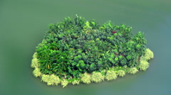 Heart-shaped island Stock Footage