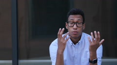 Gesture of Loss, Business Wrong Deals Reaction by Young Black Man Stock Footage