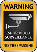 Cctv video surveillance label Stock Illustration