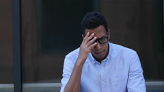 Sad, Frustrated, Upset Young Black Handsome Man Stock Footage