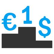 Currency Competition Flat Vector Icon Stock Illustration