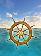 Rudder wheel Stock Illustration