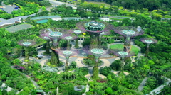 Garden by the Bays at Singapore near attraction like Marina Bays Stock Footage