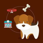 Dog cartoon pet design Piirros