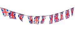 Union Flag Bunting Cut Out Stock Photos