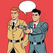 Detective or policeman cartoon design Stock Illustration