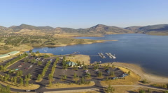 Main Marina, Jordanelle Reservoir, Deer Valley, Utah Stock Footage
