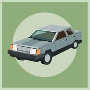Auto garage car design Stock Illustration