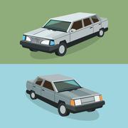 Auto garage car design Stock Illustration