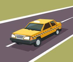 Taxi auto car design Stock Illustration