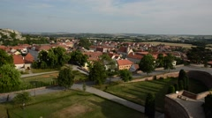 City of Mikulov, Czech Republic, Europe. Summer Cityscape Stock Footage