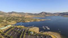 Parking Field and Boat Launch, Jordanelle Reservoir, Deer Valley, Utah Stock Footage