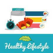 Protein food healthy lifestyle design Stock Illustration