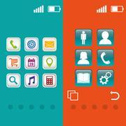Wallpaper mobile apps design Stock Illustration