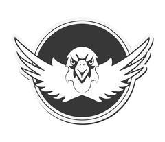 Eagle emblem icon Stock Illustration