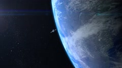 Satellite is orbiting the Earth Stock Footage