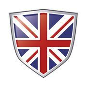 Great britain flag emblem icon Stock Illustration