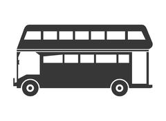 Double decker bus icon Stock Illustration
