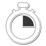 Chronometer time silhouette design Stock Illustration