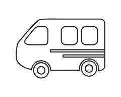 Bus transportation trip design Stock Illustration