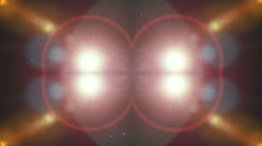 Abstract light ray miror Stock Footage