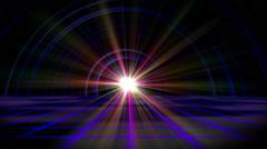 Future floor ray light tunnel Stock Footage