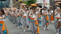 OSAKA , Summer Matsuri festival - JAPAN Stock Footage