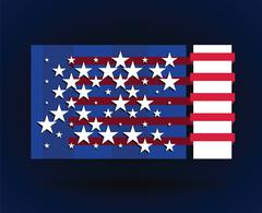 American flag style Piirros