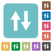Flat data traffic icons Stock Illustration