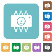 Flat hardware diagnostic icons Stock Illustration