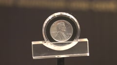 1974-D Aluminum One Cent Coin Stock Footage