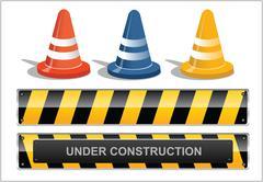 Site under construction Stock Illustration