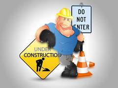 Website under construction background Stock Illustration