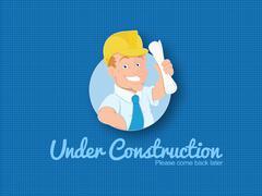Website under construction template Stock Illustration