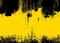Yellow modern background Stock Illustration