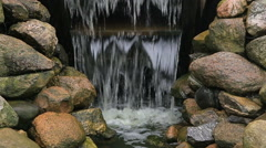 Water stream of an old working watermill Stock Footage