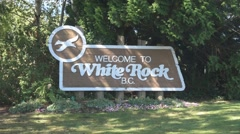 Welcome to White Rock town sign Stock Footage