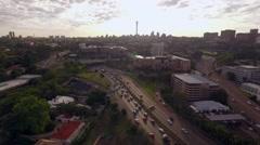 Aerial Shot Approaching Braamfontein Johannesburg. Stock Footage