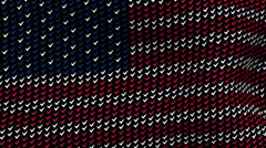 American flag is waving in the wind, consisting of choice's symbols Stock Footage
