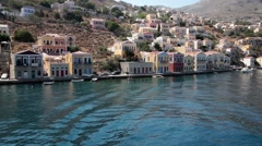Сoast of Symi, Greece Stock Footage