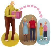 By right of succession - stock illustration