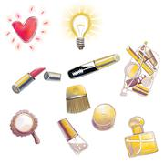 Make-up set Stock Illustration
